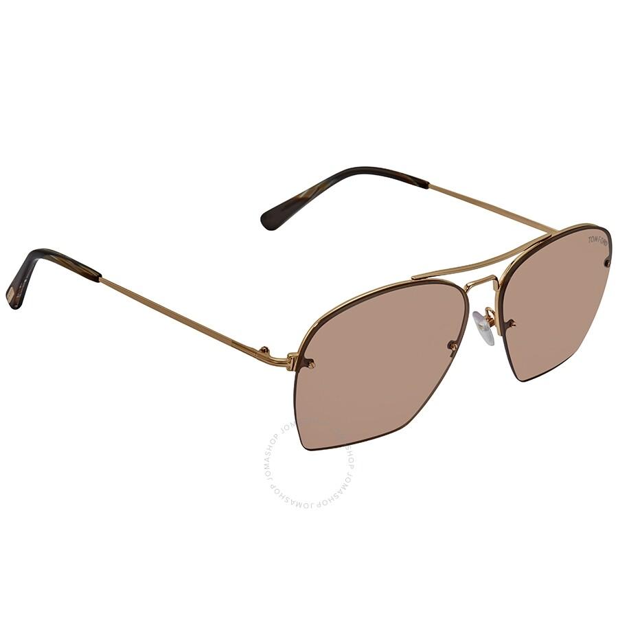 35567d35e Tom Ford Whelan FT0505 Brown Aviator Sunglasses FT0505 28E Item No. FT0505  28E