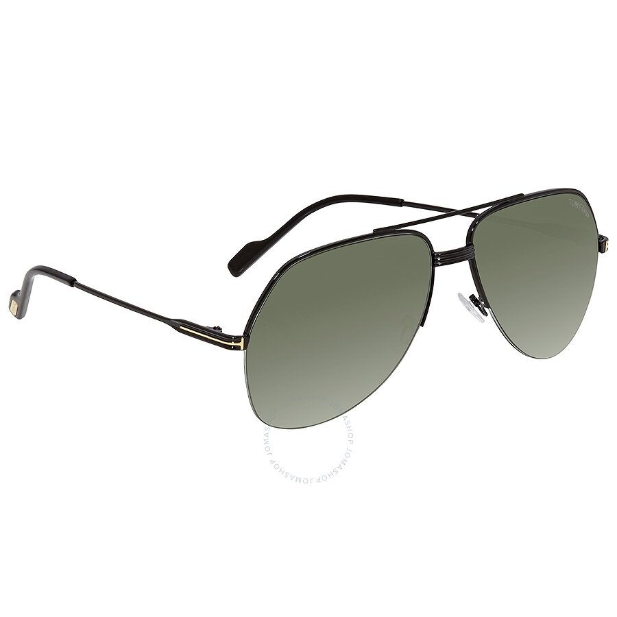 7e9dbd219 Tom Ford Wilder Black Green Pilot Sunglasses FT0644 01N Item No. FT0644 01N