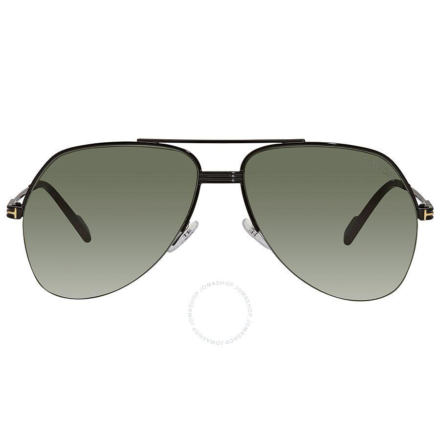 967c8843e Tom Ford Wilder Black Green Pilot Sunglasses FT0644 01N - Tom Ford ...