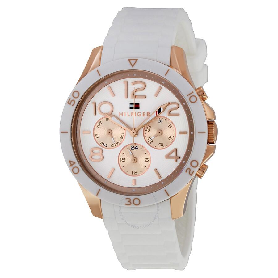 265904da65f9 Tommy Hilfiger Alex White Dial White Silicone Strap Ladies Quartz Watch  1781524 ...