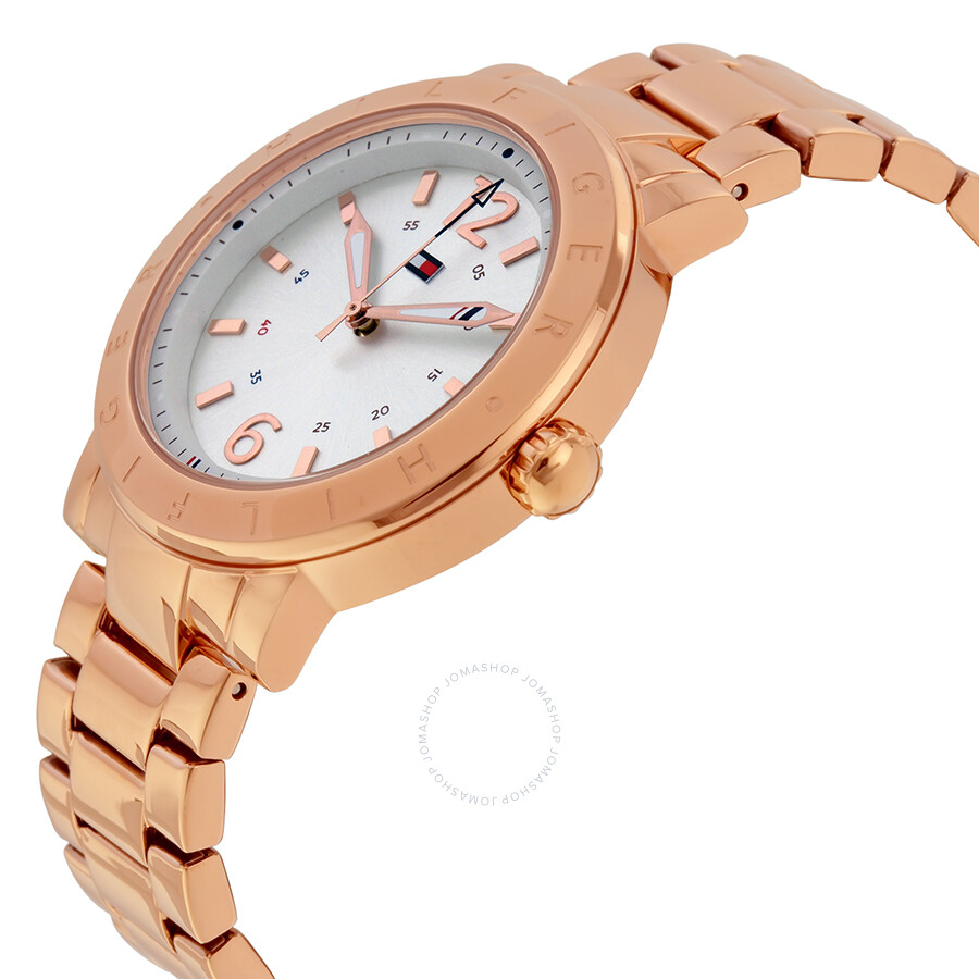 tommy hilfiger aubrey silver dial rose gold stainless steel ladies watch 1781621 tommy. Black Bedroom Furniture Sets. Home Design Ideas