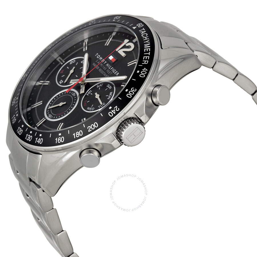 29e635f5 ... Tommy Hilfiger Luke Multi-Function Black Dial Stainless Steel Men's  Watch 1791104 ...