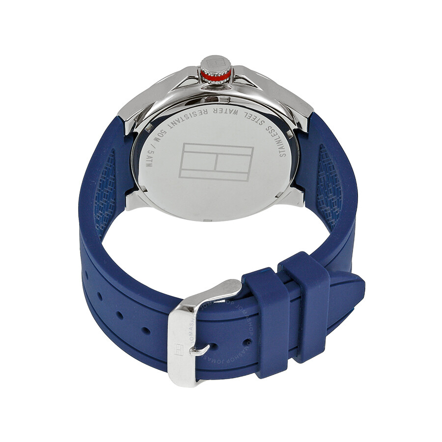 261a61536 ... Tommy Hilfiger Blue Dial Blue Silicone Strap Men's Watch 1790862 ...