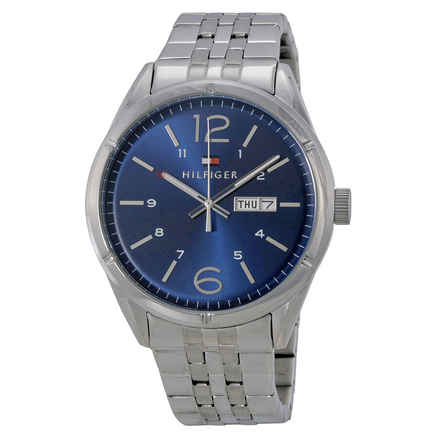 44e99819 Tommy Hilfiger Blue Dial Stainless Steel Men's Watch 1791061 - Tommy ...