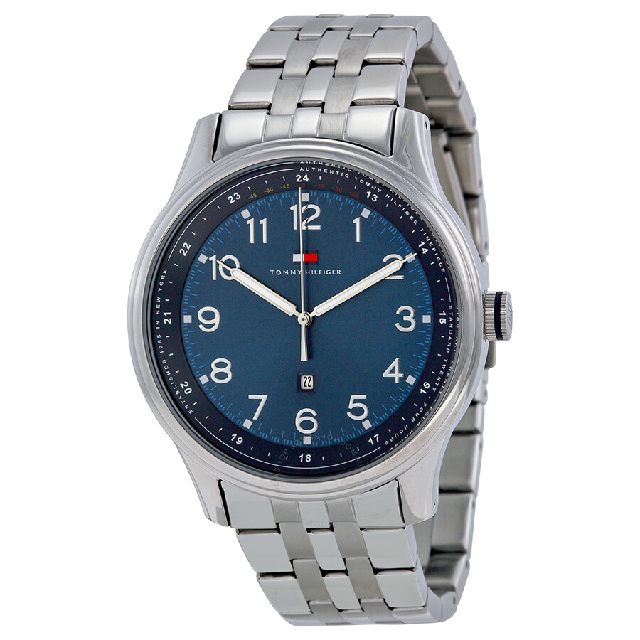 324510ff Tommy Hilfiger Blue Dial Stainless Steel Men's Watch 1710308 - Tommy ...