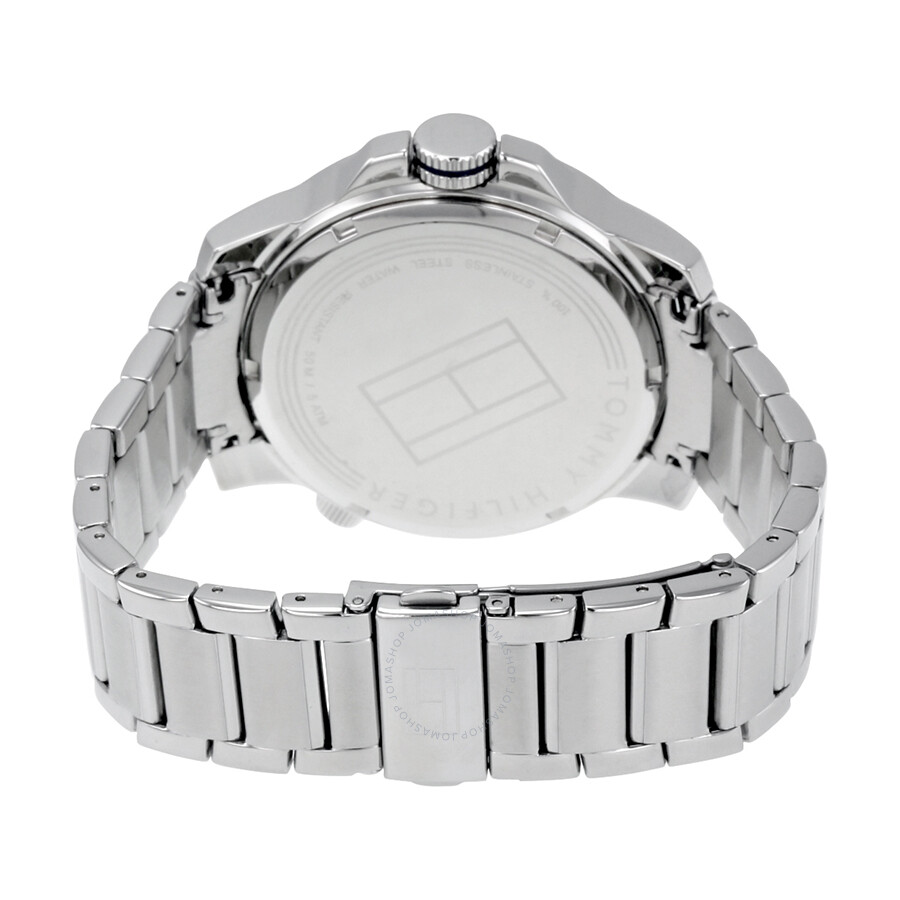 132ab6a4 ... Tommy Hilfiger Cool Sport Blue and Black Dial Stainless Steel Men's  Watch 1791237