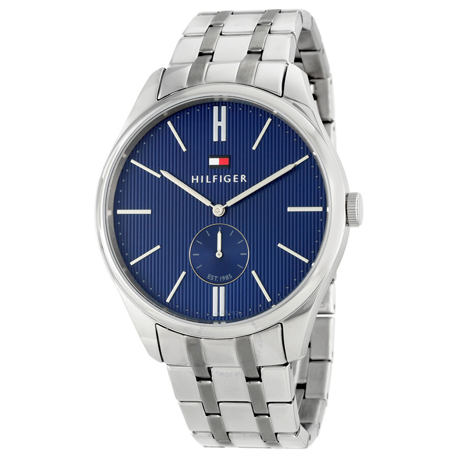 02494acb Tommy Hilfiger Curis Blue Dial Stainless Steel Men's Watch 1791171 ...
