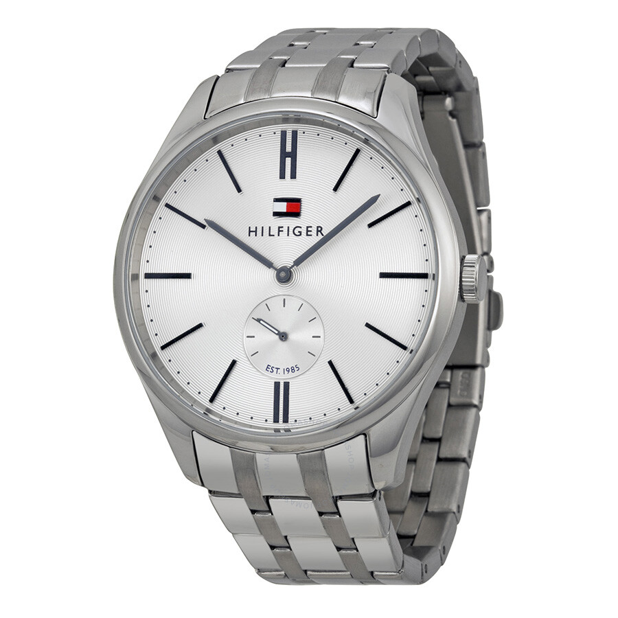 176cd2c9 Tommy Hilfiger Curis Blue Dial Stainless Steel Men's Watch 1791172 ...