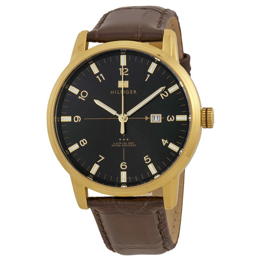 perturbazione ottenere fanatico  Tommy Hilfiger Geore Black Dial Brown Leather Men's Watch 1710329 1710329 -  Watches, Tommy Hilfiger - Jomashop