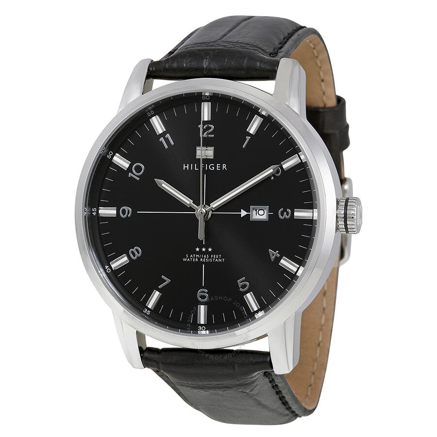 58a78a6ab ... Tommy Hilfiger George Black Dial and Leather Strap Men's Watch; Tommy  Hilfiger Men's Chase Chronograph ...