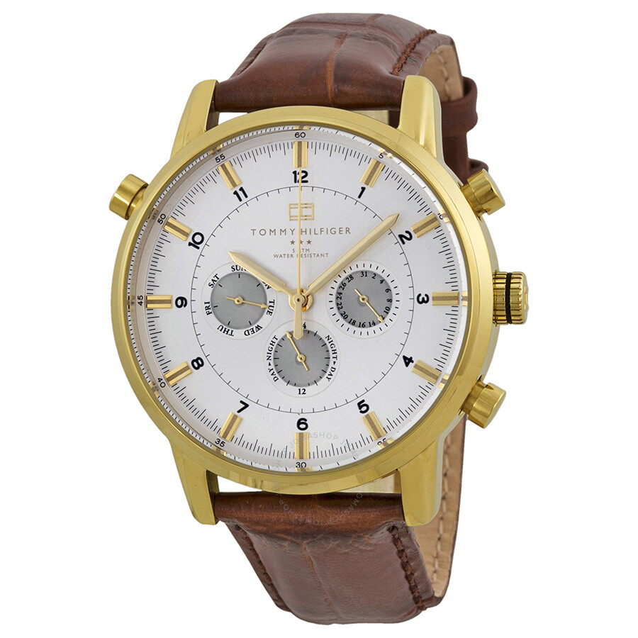 8da5d24407 Tommy Hilfiger GMT Gold-plated Stainless Steel Men's Watch 1790874 ...