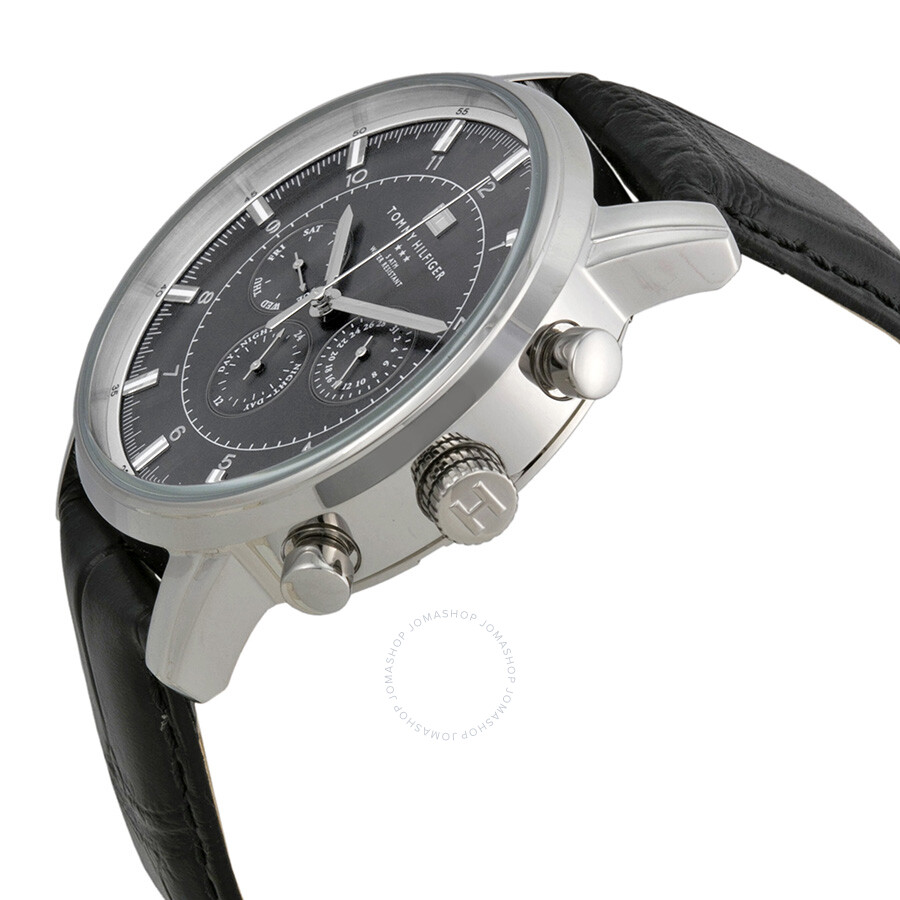 bf3acbdb4f ... Tommy Hilfiger GMT Grey Dial Stainless Steel Men's Watch 1790875 ...
