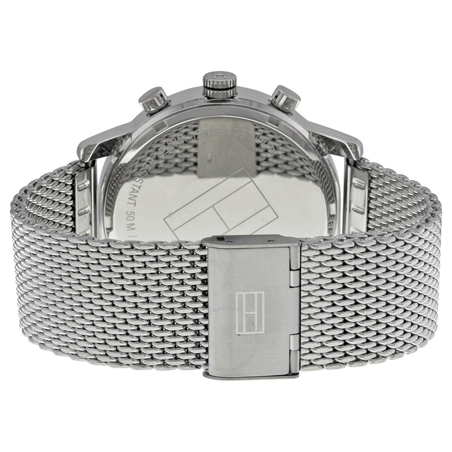 b5e80b9f90f12 ... Tommy Hilfiger Gray Dial Stainless Steel Mesh Men s Watch 1790877 ...