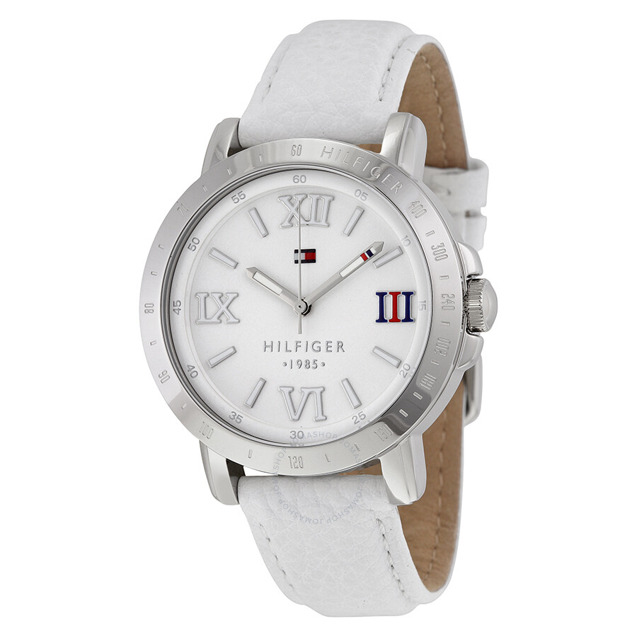 5007c32211ba Tommy Hilfiger Liv White Dial White Leather Ladies Watch 1781440 ...