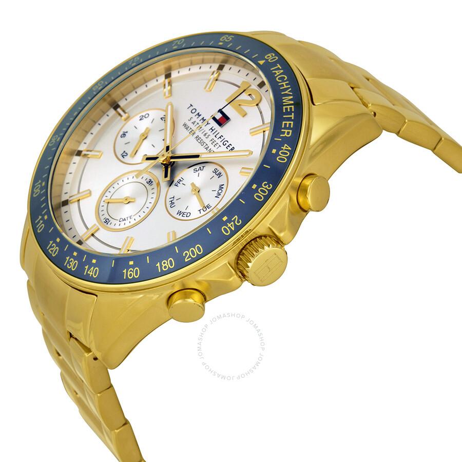 104b383045 Tommy Hilfiger Luke Multi-Function Silver White Dial Steel Men's Watch  1791121