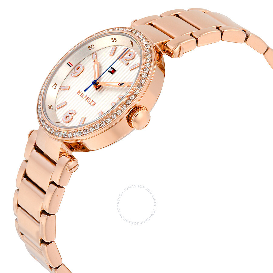 a172d53b9815 ... Tommy Hilfiger Lynn White Dial Rose Gold-Tone Stainless Steel Ladies  Watch 1781590 ...
