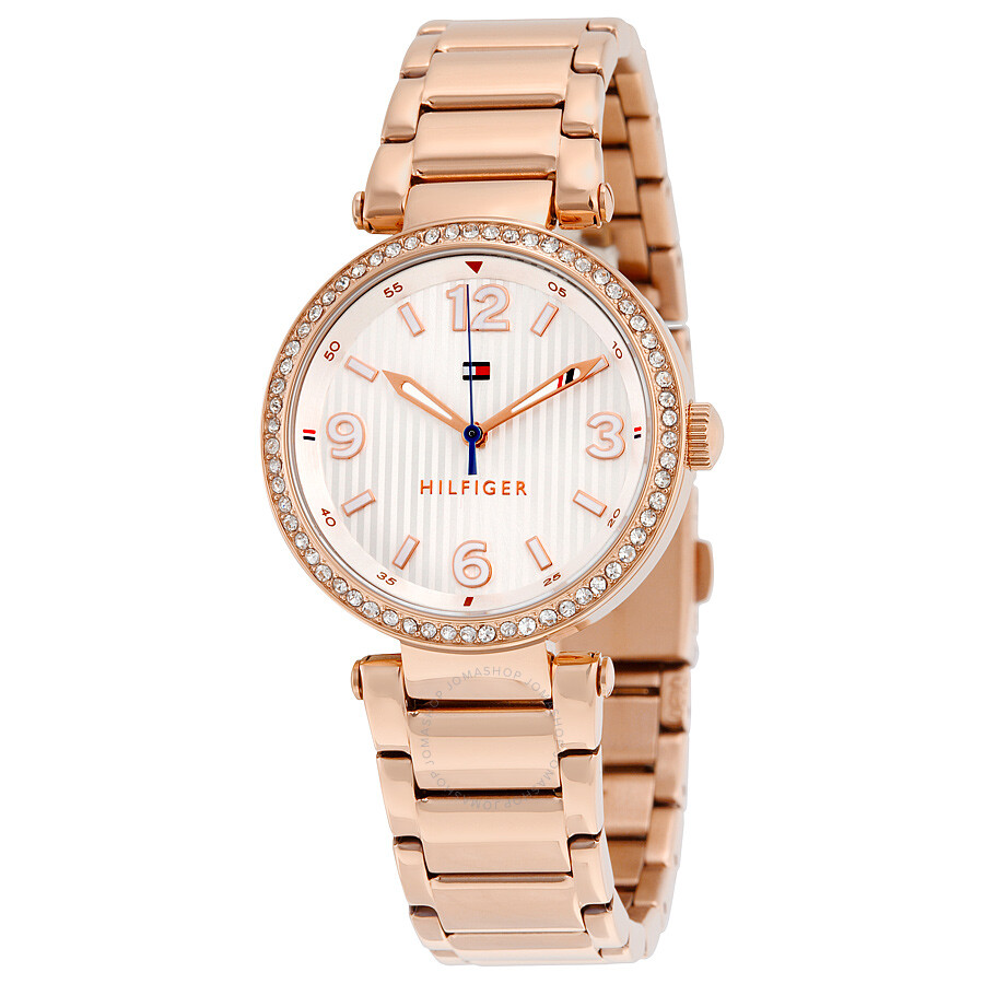 d0428cb5ceac Tommy Hilfiger Lynn White Dial Rose Gold-Tone Stainless Steel Ladies Watch  1781590 ...