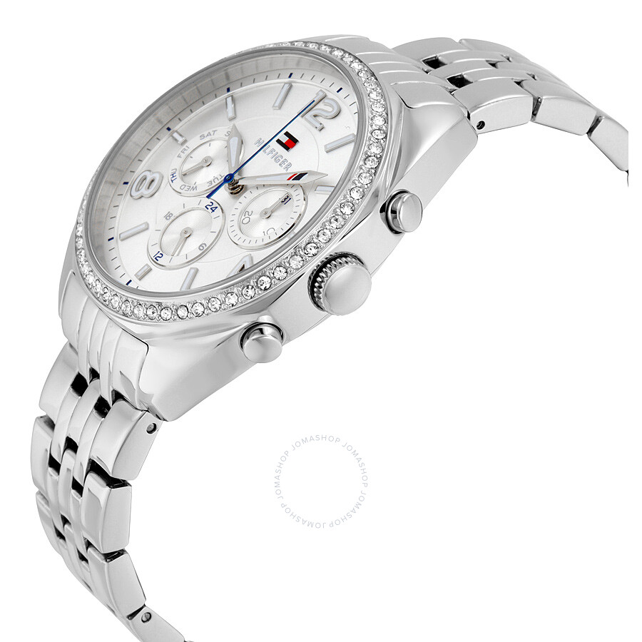 e39f6f79 ... Tommy Hilfiger Mia Multifunction Silver Dial Stainless Steel Ladies  Watch 1781571 ...