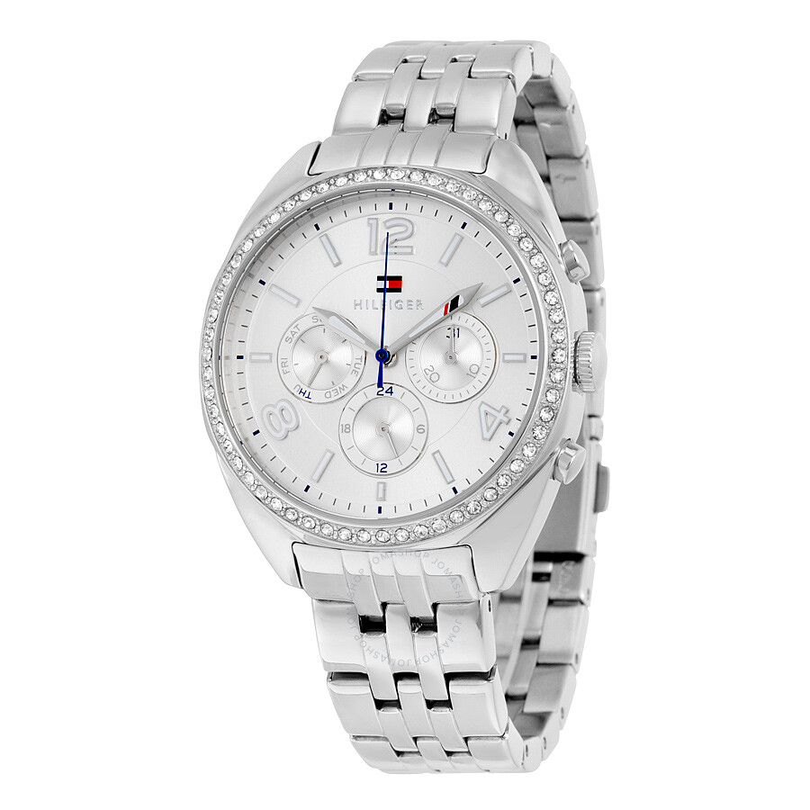 d7b64276 Tommy Hilfiger Mia Multifunction Silver Dial Stainless Steel Ladies Watch  1781571 ...