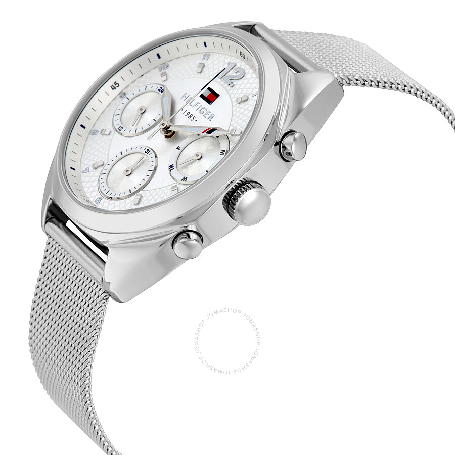 ... Tommy Hilfiger Mia Multi-Function Silver Dial Stainless Steel Mesh  Men s Watch 1781628 ... d926c1379e1