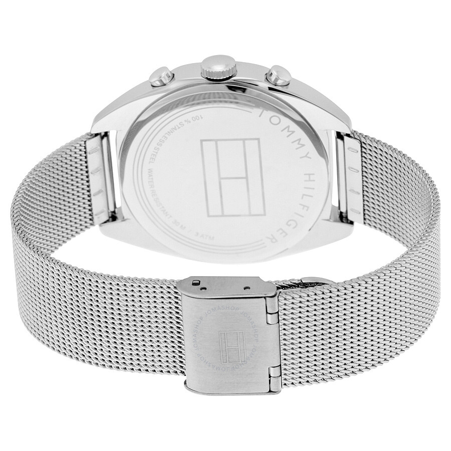 ... Tommy Hilfiger Mia Multi-Function Silver Dial Stainless Steel Mesh  Men s Watch 1781628 c8714d8151c