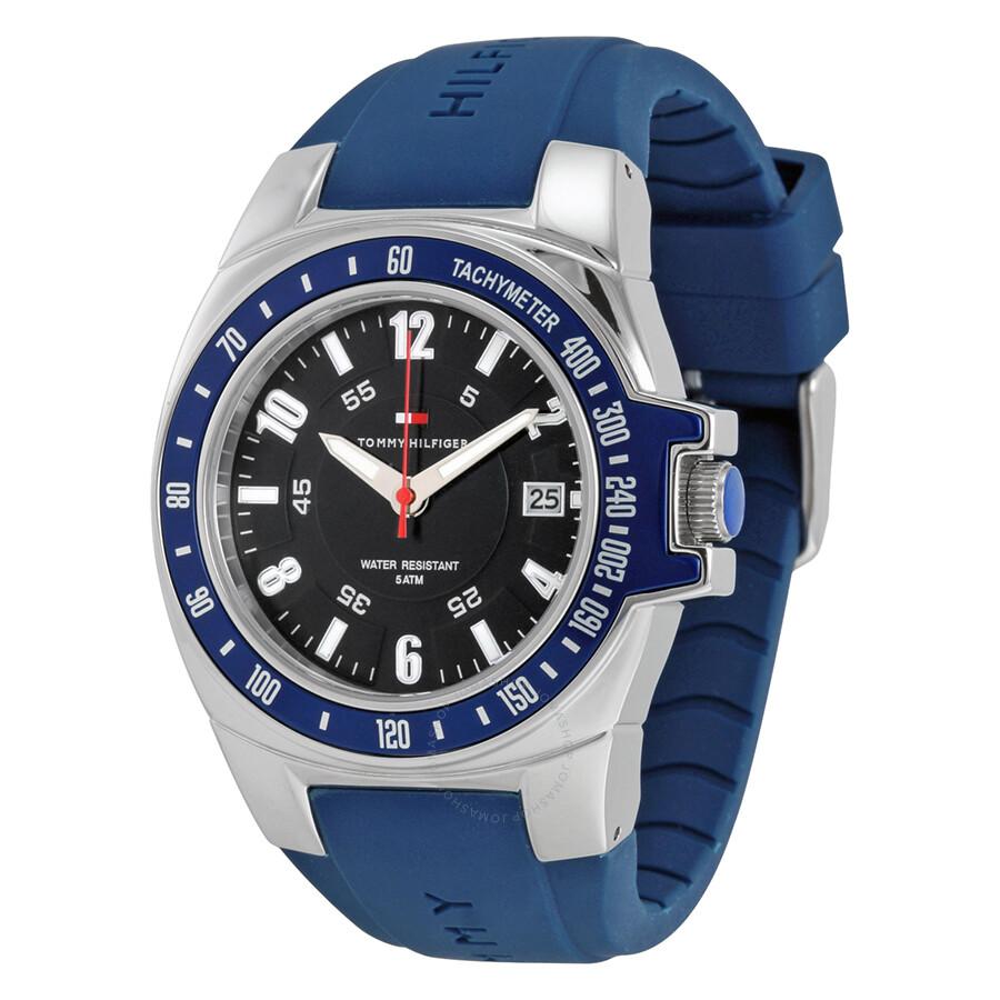 hilfiger navy blue blue rubber s sports