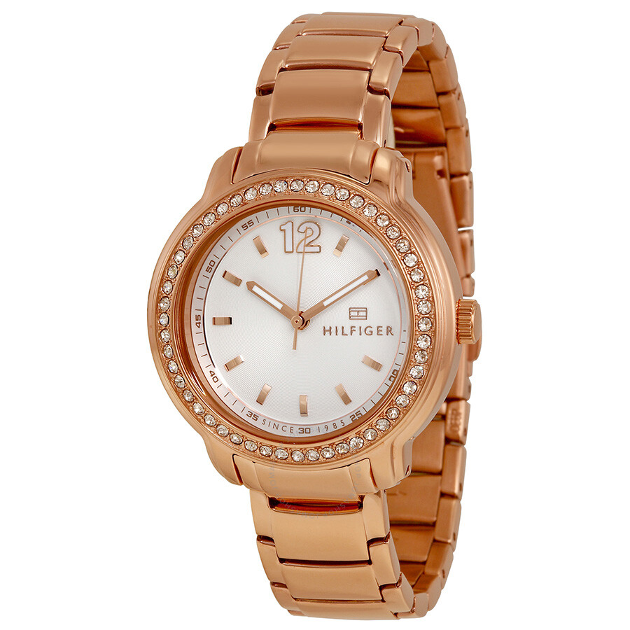 b58a202c07 Tommy Hilfiger Silver Dial Rose Gold-tone Ladies Watch 1781468 ...