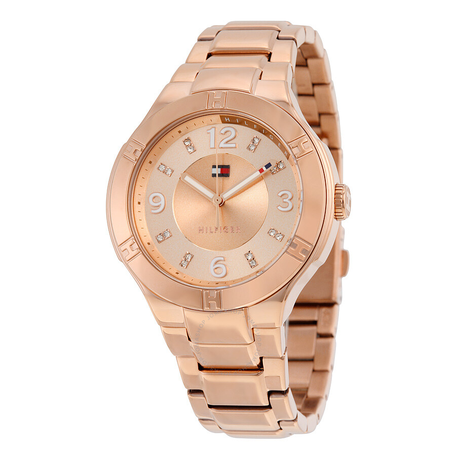 tommy hilfiger tory rose gold tone stainless steel ladies watch 1781445 tommy hilfiger. Black Bedroom Furniture Sets. Home Design Ideas