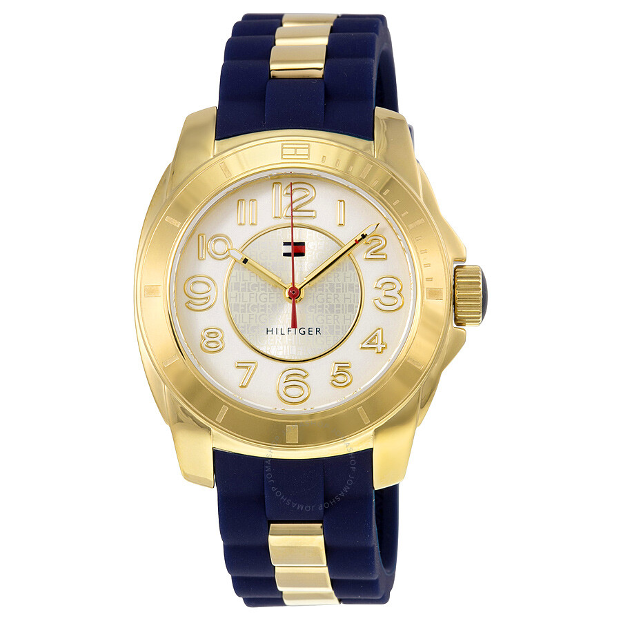 5502b0d44c32 Tommy Hilfiger White Dial Blue Silicone Ladies Watch 1781307 - Tommy ...