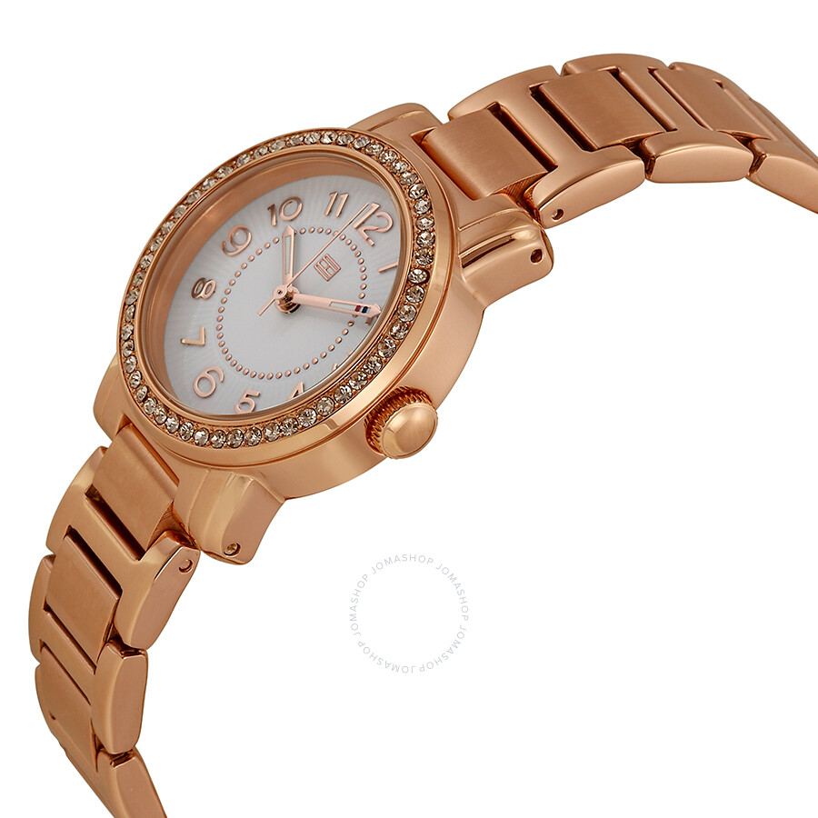 tommy hilfiger white dial rose gold plated ladies watch 1781476 tommy hilfiger watches. Black Bedroom Furniture Sets. Home Design Ideas