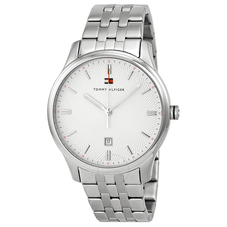 59af8381 Tommy Hilfiger White Dial Stainless Steel Men's Watch 1710283 ...