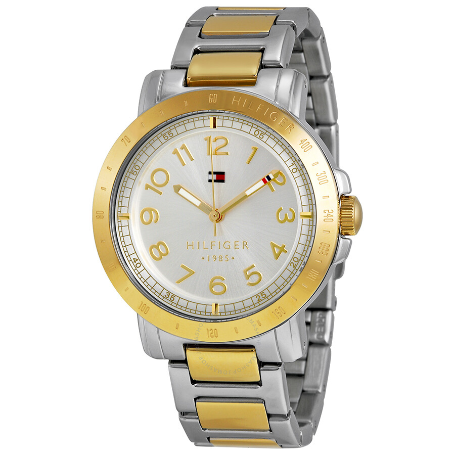 fae7f60bede Tommy Hilfilger Silver Dial Two-tone Stainless Steel Ladies Watch 1781398  ...