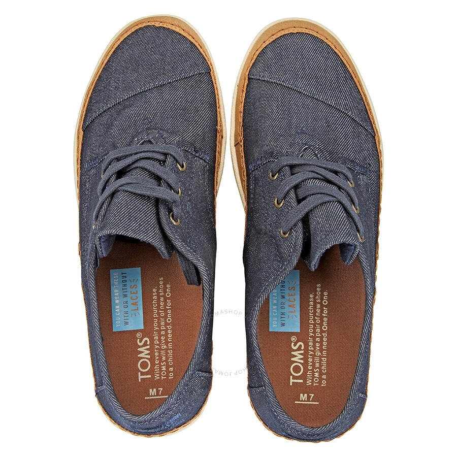 b80125bfe8c Toms Men s Paseo Sneakers- Rim Navy  8 - Shoes - Fashion   Apparel ...