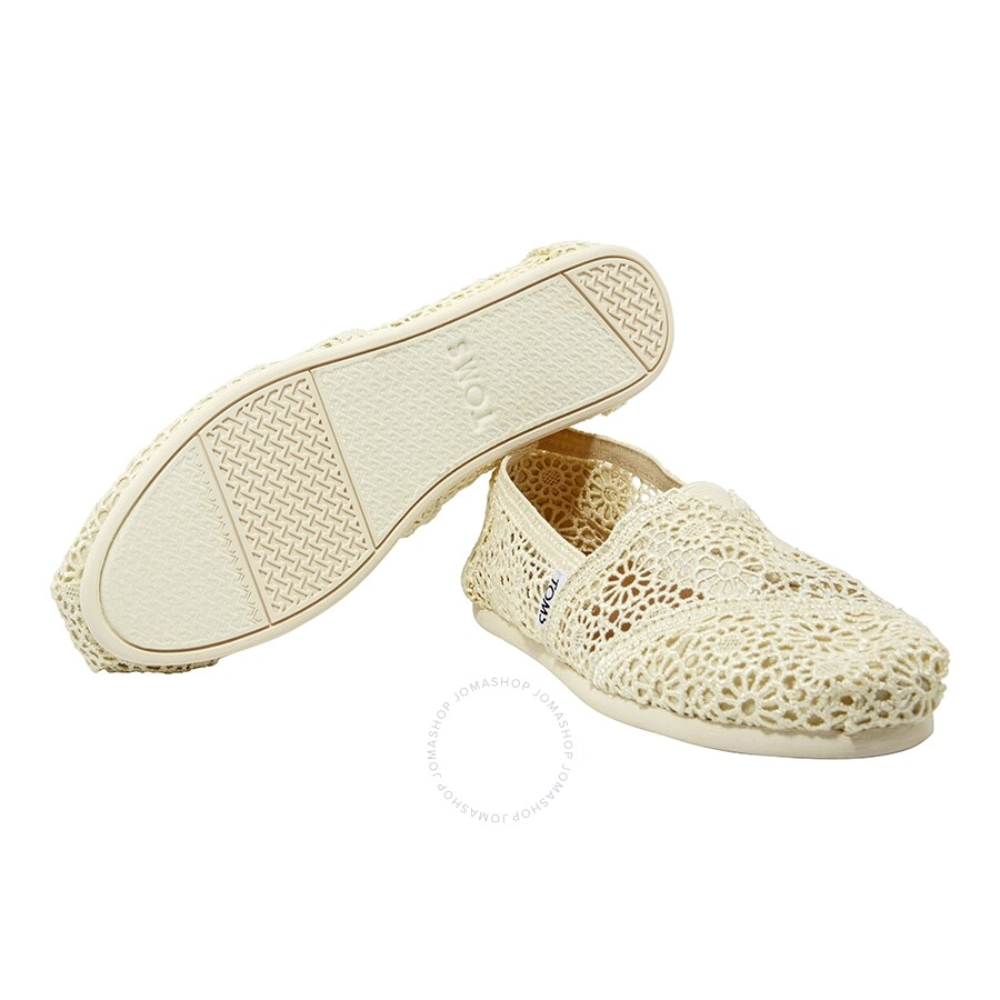 01be96c587a Toms Moroccan Crochet Ladies Slip-On- Natural - Shoes - Fashion ...