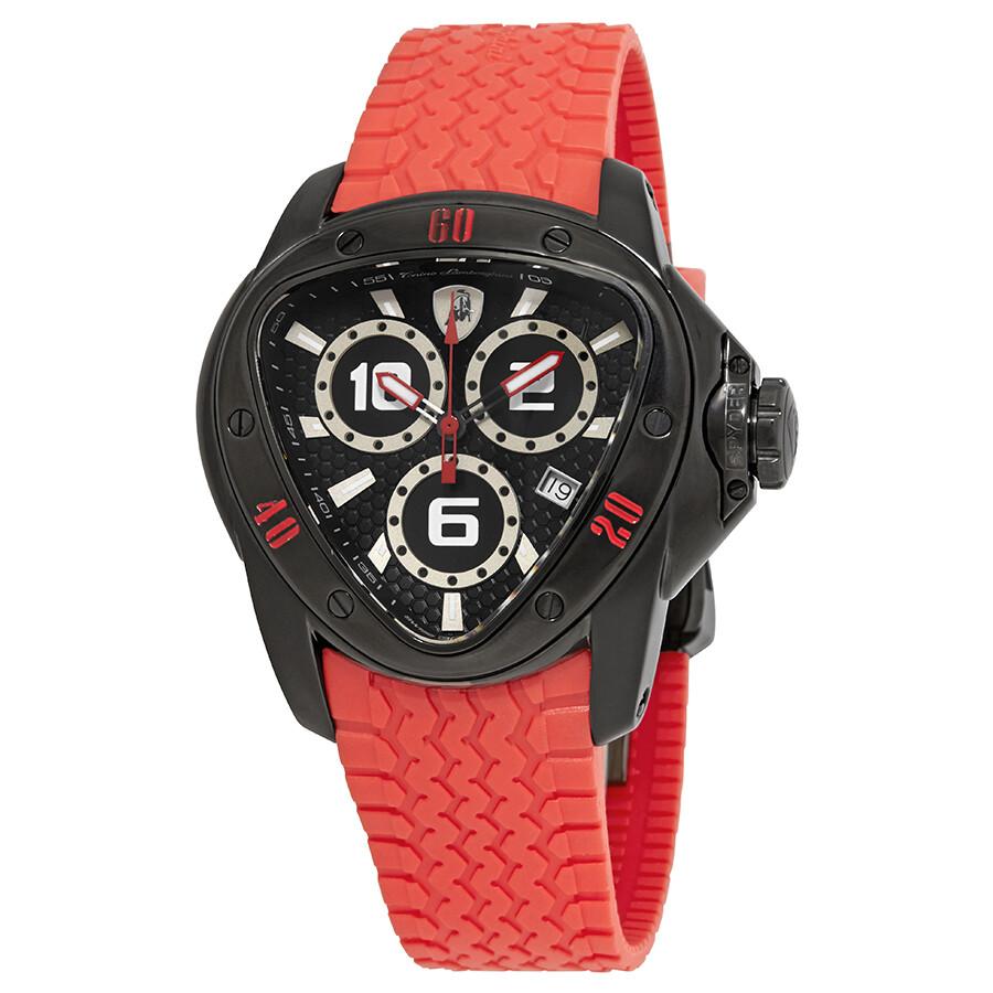 Tonino Lamborghini Spyder 1300 Black Dial Men S Watch Lamborghini