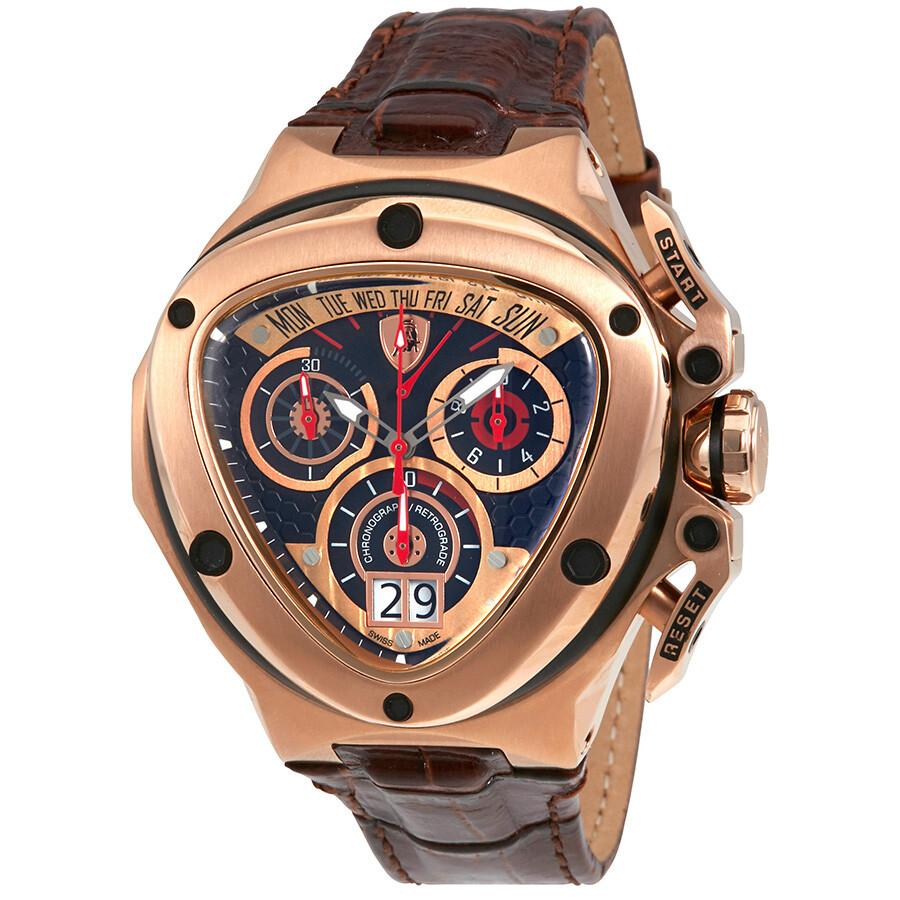 Tonino Lamborghini Watch >> Tonino Lamborghini Spyder 3000 Chronograph Black Dial Leather Men S Watch 3014