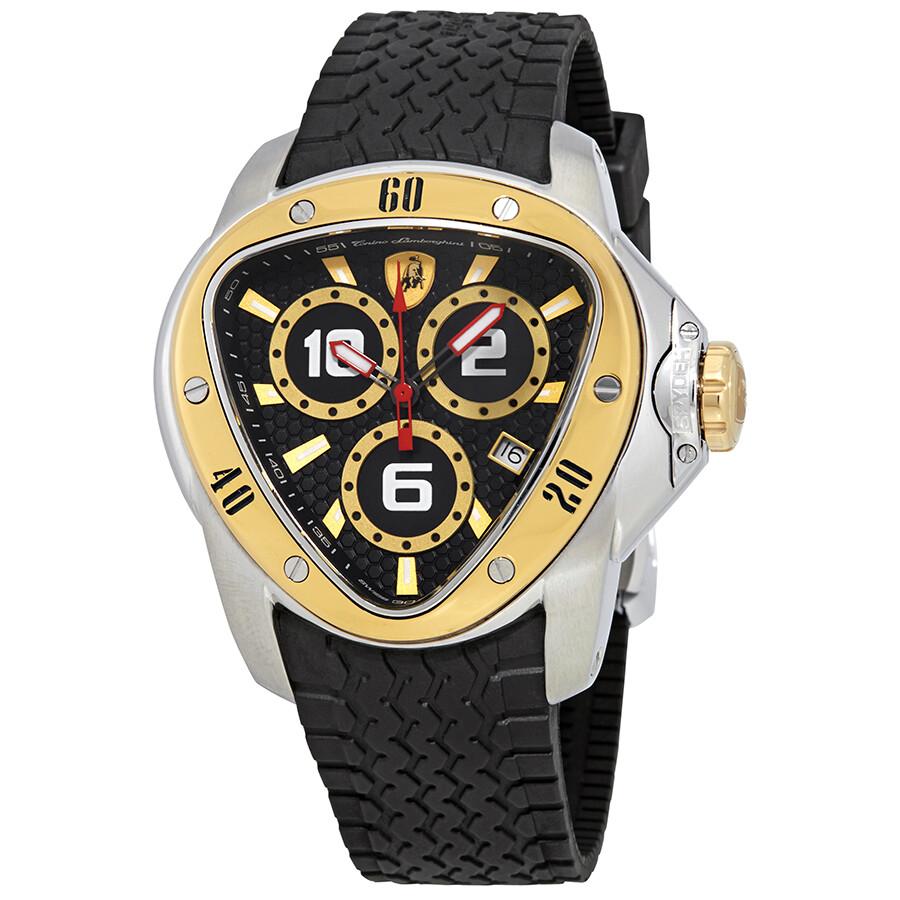 Tonino Lamborghini Watch >> Tonino Lamborghini Spyder Black Dial Men S Watch 1306