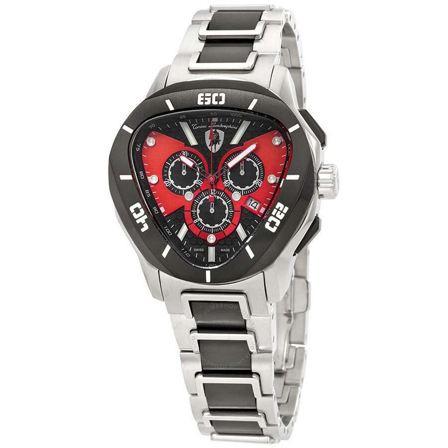 Tonino Lamborghini Spyder C Line Red And Black Dial Men S Watch C 10