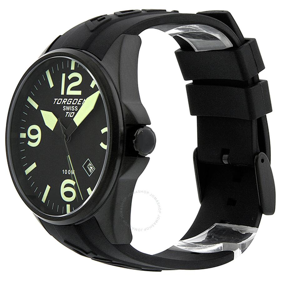 7766b2d5a02 Torgoen T10 Series Black Dial Black Rubber Men s Watch T10301 ...