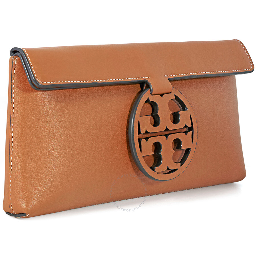 e79f0e5c2b66 Tory Buch Miller Logo Clutch - New Cuoio - Tory Burch - Handbags ...