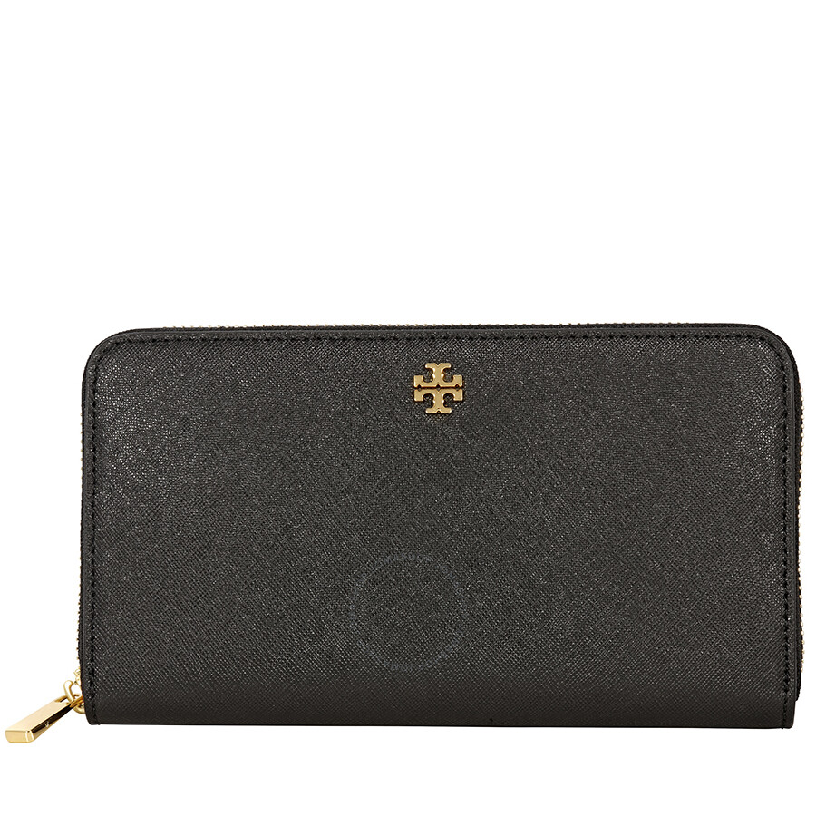 f5b7a29b30c1 Tory Burch Tory Burch Robinson Zip Continental Wallet- Black Item No.  11169071