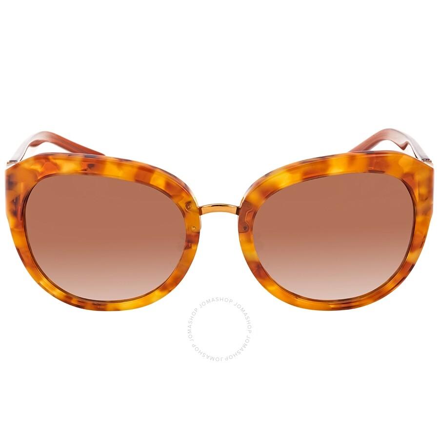 ecf2370849e3 ... Tory Burch Angular Metal-Logo Amber Ladies Sunglasses TY712417251356 ...