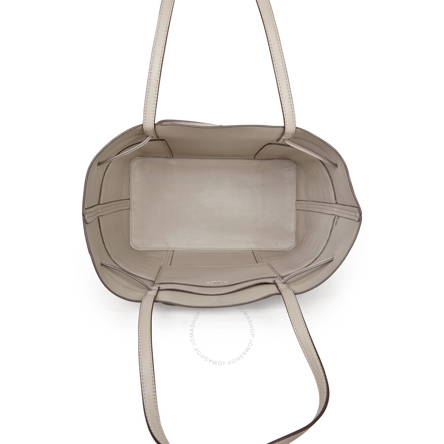 7c23ad9fc9e3 Tory Burch Block-t Grommet Bucket Tote - French Gray - Tory Burch ...
