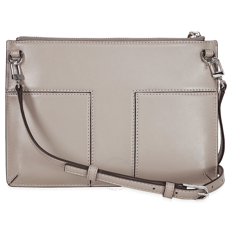 bad4e66eab42 Tory Burch Block-T Grommet Mini Leather Crossbody - French Gray ...