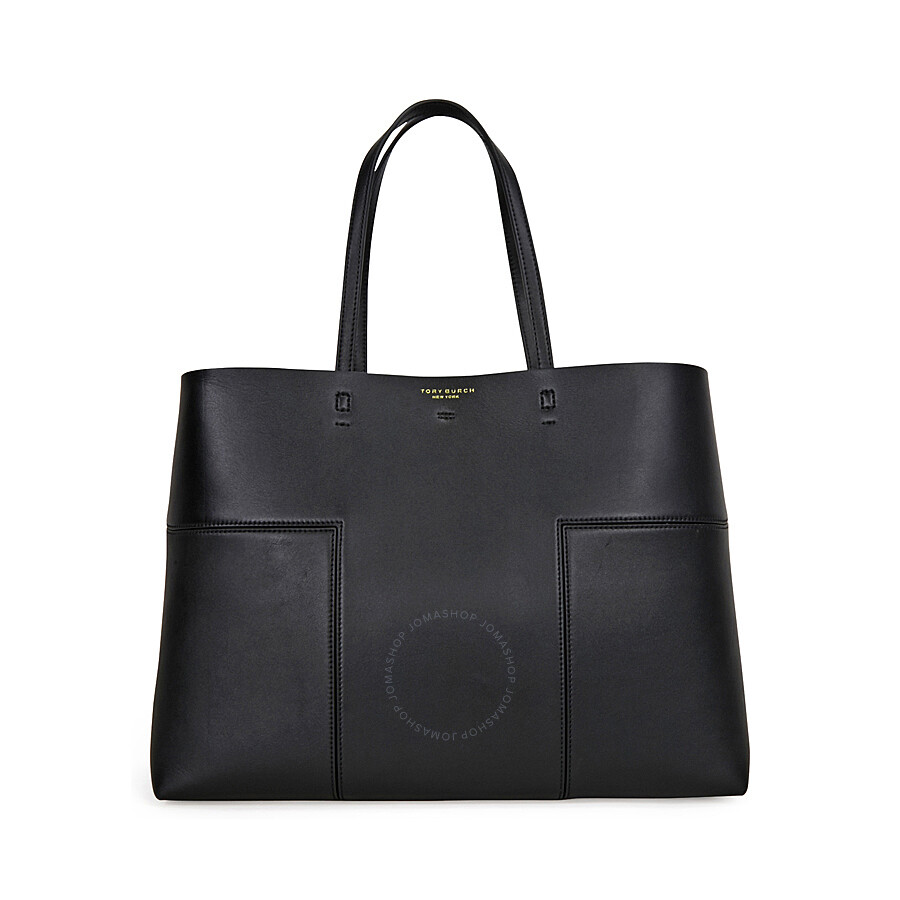 07f79deac6f Tory Burch Block-T Leather Tote- Black - Tory Burch - Handbags ...