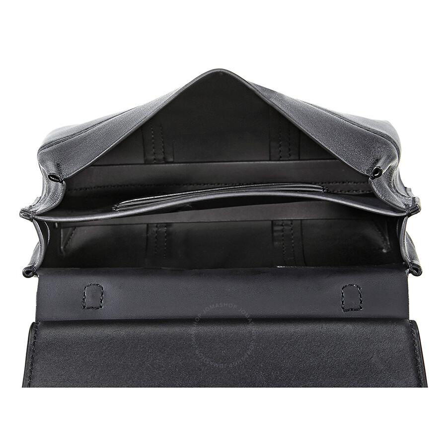 77f0794b66c Tory Burch Block-T Mini Leather Satchel - Black - Tory Burch ...