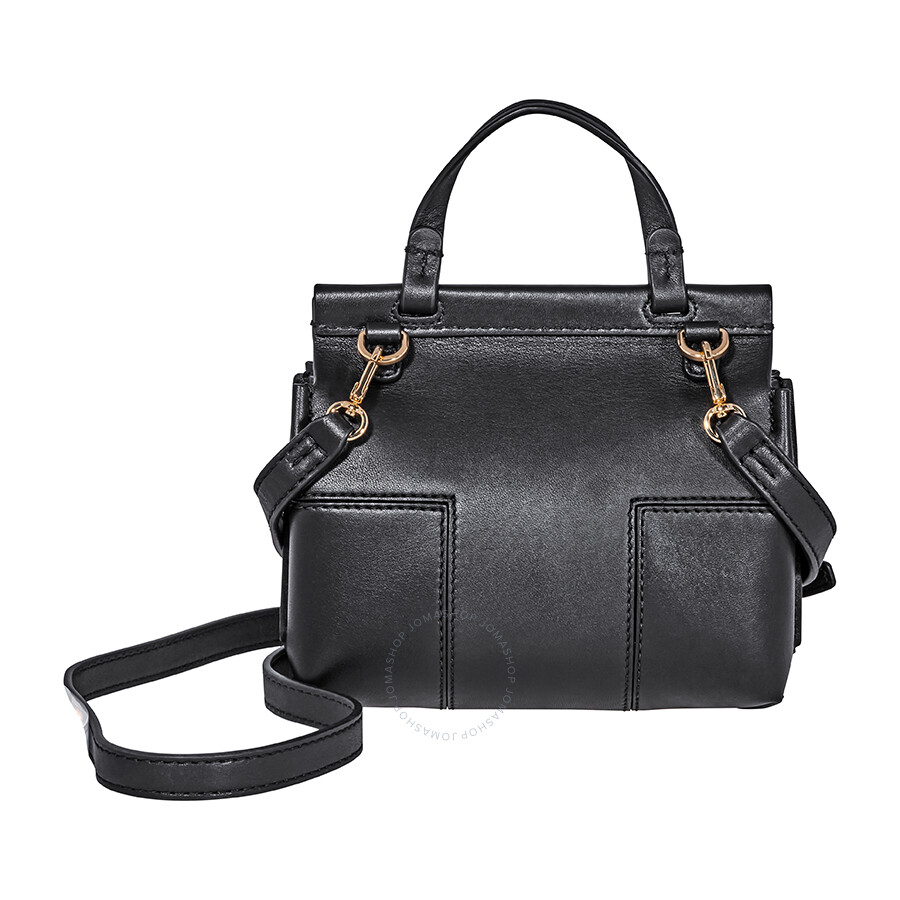 aa23932fcc20 Tory Burch Block-T Mini Satchel- Black - Tory Burch - Handbags ...