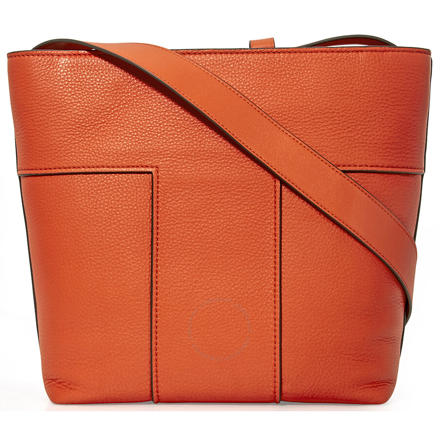 e9d55888490e Tory Burch Block-T Pebbled Leather Tote- Spicy Orange - Tory Burch ...