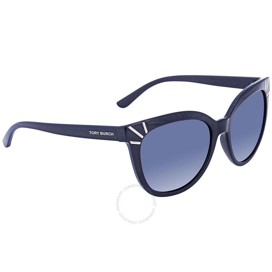 32748269f Tory Burch Blue Gradient Cat Eye Ladies Sunglasses TY905113704L56 ...