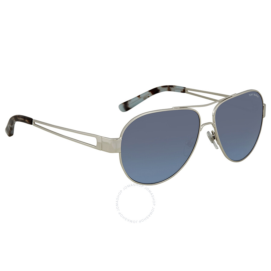 b23fc56dab Tory Burch Blue-Grey Gradient Aviator Sunglasses TY6060 31618F 55 ...